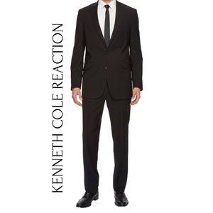 Kenneth Cole Reaction Black pinstripe suit 46L
